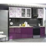 Çiçek Desenli Modern Mutfak Dolabı Modelleri
