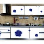Çiçek Desenli Mutfak Dolabı Modelleri-3