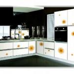 Çiçek Desenli Mutfak Dolabı Modelleri-4