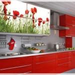 Çiçekli Mutfak Dolabı Kapakları-2
