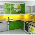 Çiçekli Mutfak Dolabı Kapakları-3