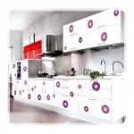 Desenli Mutfak Dolabı Modelleri