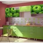 Elma Resimli Mutfak Dolabı Kapakları