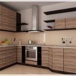 Kahve Rengi Akrilik Mutfak Dolapları