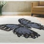 Kelebek Desenli Salon Halısı