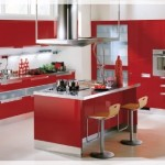 Kırmızı Renk Ada Mutfak