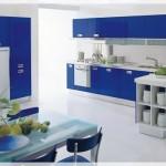 Mavi Akrilik Mutfak Dolapları