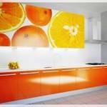 Portakal Resimli Mutfak Dolabı