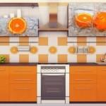 Portakal Resimli Mutfak Kapakları