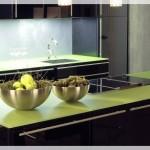 Renkli Cam Mutfak Tezgahı