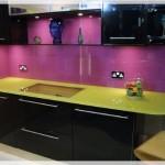 Renkli Cam Mutfak Tezgahları