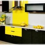 Sarı Siyah Mutfak Dolapları