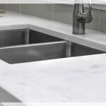 Beyaz Akrilik Mutfak Tezgahı