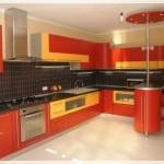 Sarı Kırmızı Mutfak Dolapları