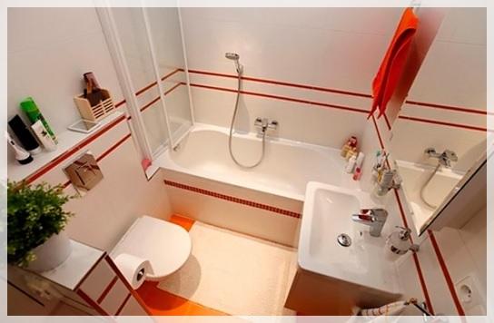 Простые дизайны ванны с туалетом