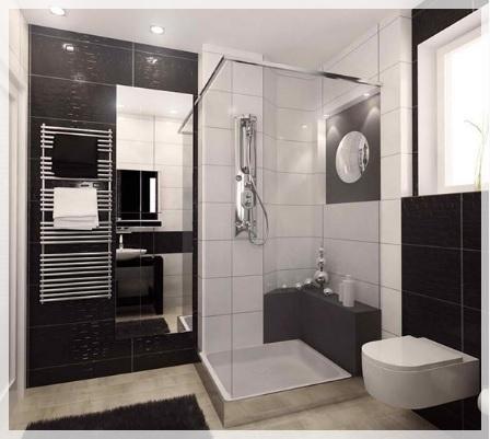 Siyah beyaz banyo dekorasyon nerileri dekorasyon modelleri - Banyo dekorasyon ...