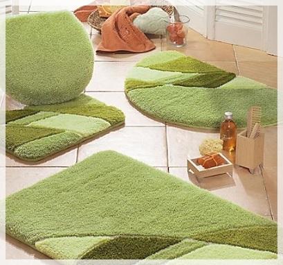 Yeşil Banyo Paspasları