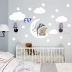 İsimli Bebek Odası Sticker Modelleri