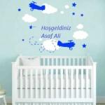 Bebek Odası Sticker İsimli-5