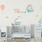 Bebek Odası Sticker İsimli-6