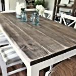 Beyaz Rustik Mutfak Masaları