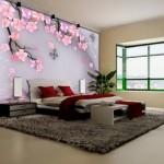 Desenli Yatak Odası Duvar Kağıtları 2019