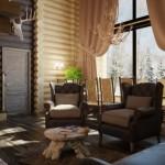 En Güzel Rustik Salon Perdeleri
