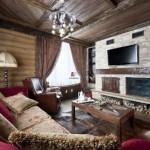 Farklı Rustik Salon Perdeleri