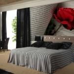 Gül Resimli Yatak Odası Duvar Kağıtları