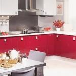 Kelebek Kırmızı Mutfak Modelleri