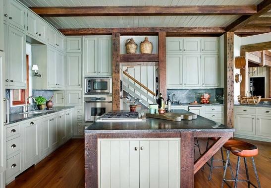 Rustik Mutfak Dolabı Tasarımları