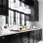 Siyah Rustik Mutfak Dolabı
