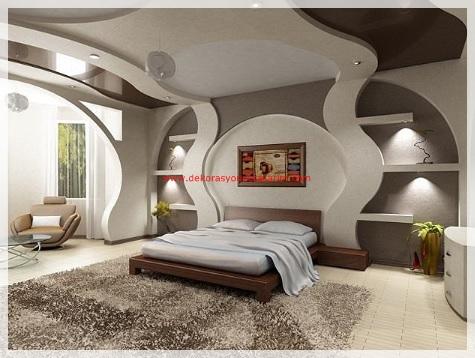 Yatak Odası Asma Tavan Modelleri