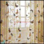 Kelebek Desenli Perde Modelleri