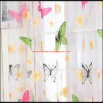 Kelebek Desenli Tül Perde