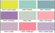 İç Cephe Boyası Renkleri