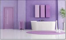Mor Renkli Banyo Modelleri