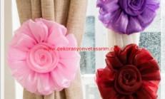 Çiçekli Perde Aksesuarları