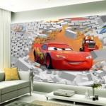 Arabalı Çocuk Odası Duvar Kağıdı