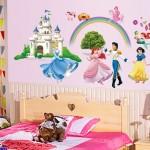 Prenses Kız Çocuk Odası Duvar Kağıdı