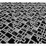 Geometrik Şekilli Siyah Beyaz Halı Modelleri
