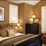 Bej Rengi Duvar Yatak Odası