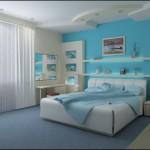 Cam Göbeği Mavisi Yatak Odası