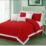 Yeni Tasarım Kırmızı Beyaz Yatak Örtüleri