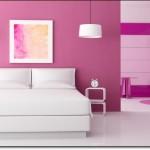 Fuşya Rengi Modern Yatak Odası