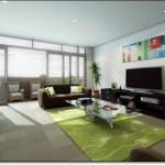 Modern Yeşil Salon Halısı