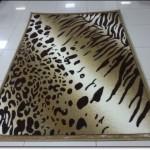 Siyah Leopar Desenli Halı