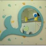 Balık Resimli Bebek Odası Aynası
