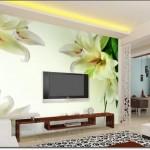 Çiçek Resimli Tv Arkası Duvar Kağıdı