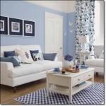 Dekoratif Mavi Salon Dekorasyonu